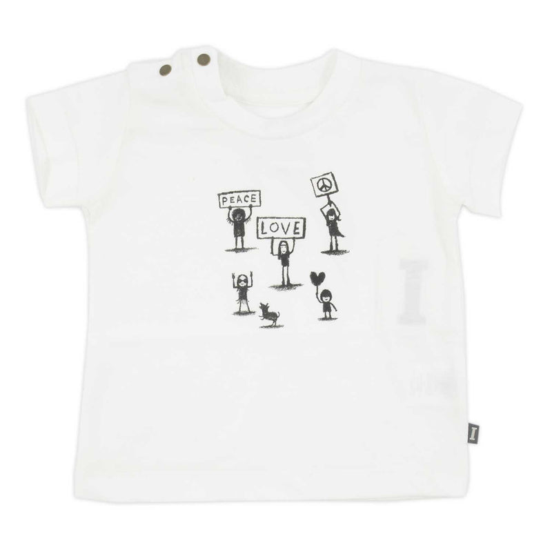 T-shirt Peace and Love-Bébé fille-IMPS & ELFS-Maralex Paris (1975708844095)