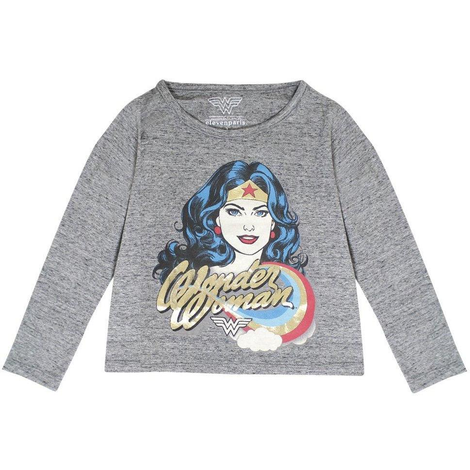 T-shirt Wonderblue Gris-Fille-ELEVEN PARIS-Maralex Paris (1976160682047)