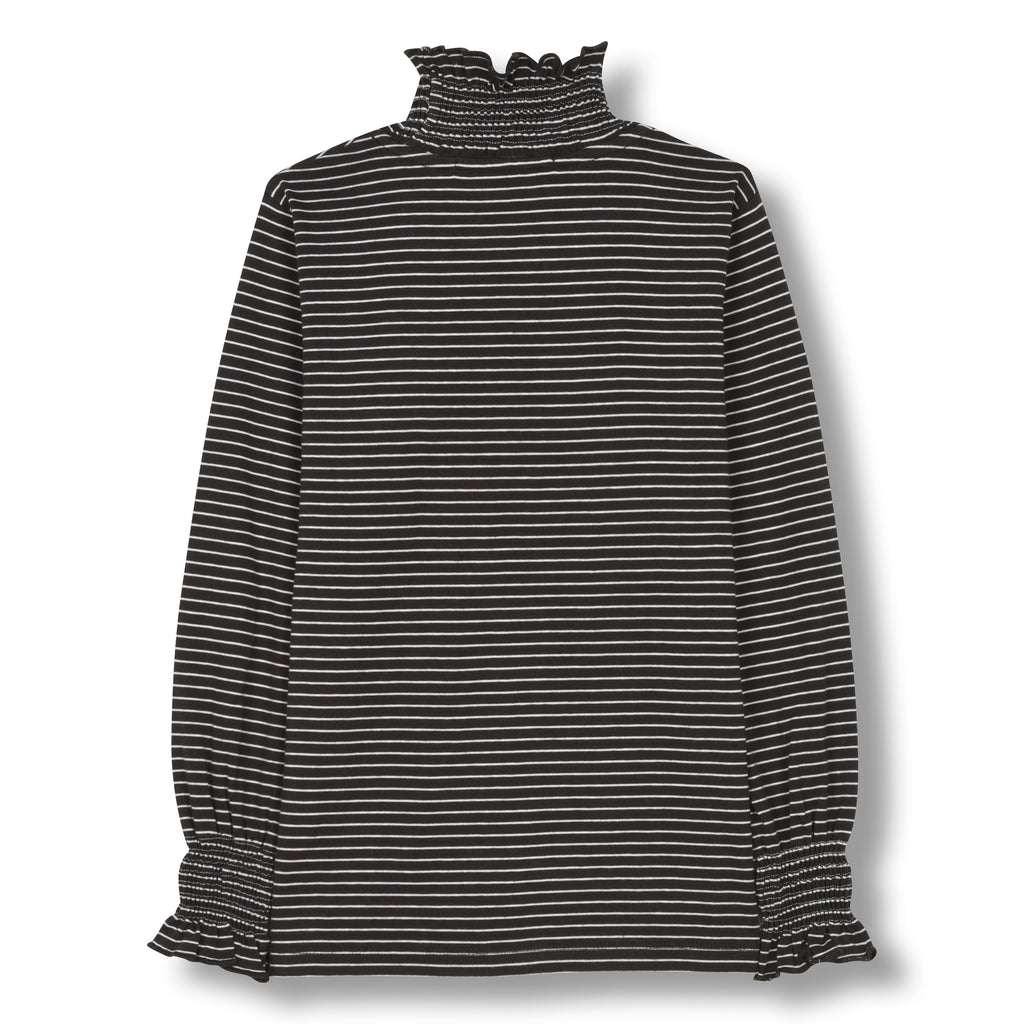 TEEROKO ASH BLACK STRIPE-TOPS & T-SHIRTS-FINGER IN THE NOSE-Maralex Paris
