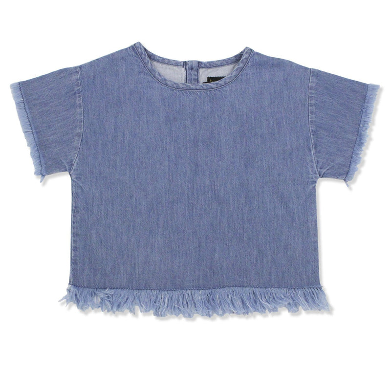 Top Inga Blue Denim-Fille-FINGER IN THE NOSE-Maralex Paris (1975849254975)