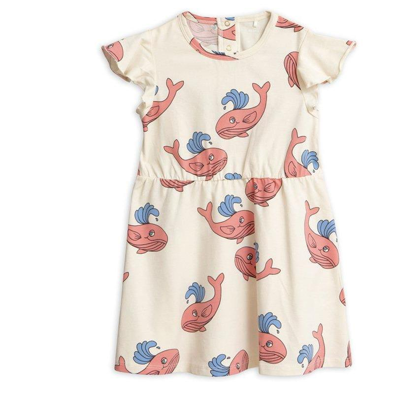 Whale Aop Wing Dress-Fille-MINI RODINI-Maralex Paris