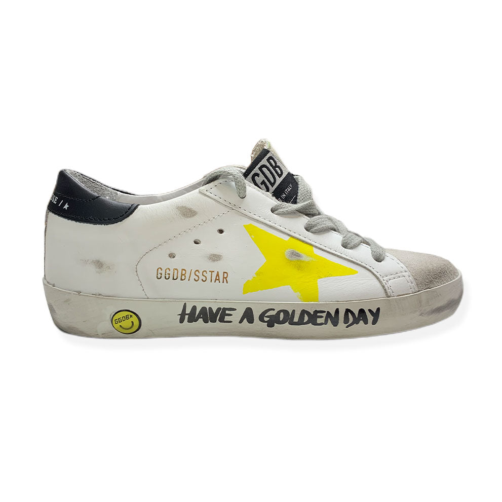 "Baskets Superstar "" Have A Golden Day""-GOLDEN GOOSE-Maralex Paris"