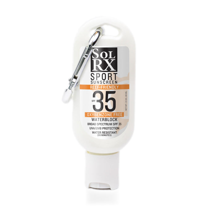SolRX SPF 35 Sunscreen with Carabiner Clip (1.5oz)
