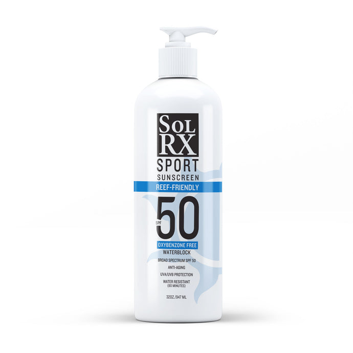 SolRX Broad Spectrum SPF 50 Waterblock Sunscreen (32oz)