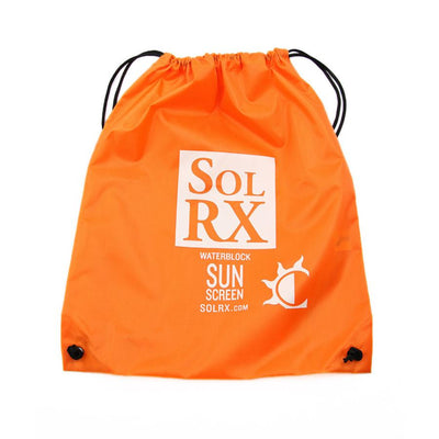 SolRX sunscreen drawstring gear bag