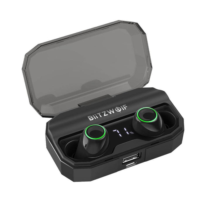 BlitzWolf® BW-FYE3S True Wireless bluetooth 5.0 Earphone Digital Power Display Smart Touch Bilateral Call Headphone with 2600mAh Charging Box (BW-FYE3S)