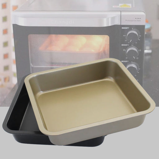 KC-OP02 8 Inches Stainless Steel Non-stick Square Pizza Cake Mold Bread Cookie Tray Oven Pan