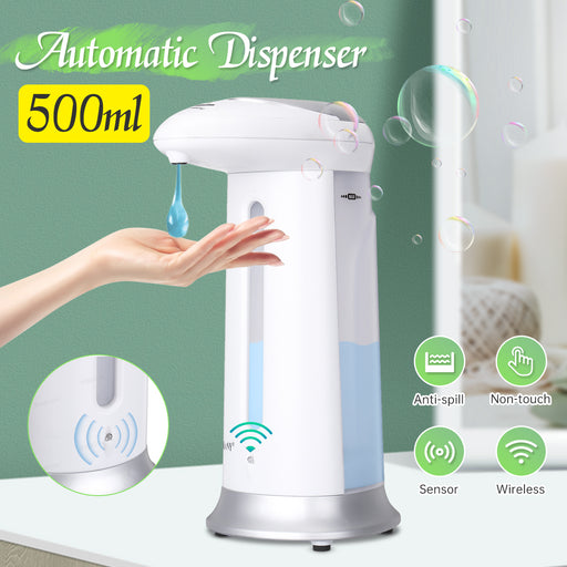 Bakeey 500ml Automatic Soap Dispenser Induction Hands Touchless Liquid Soap Gel Dispenser