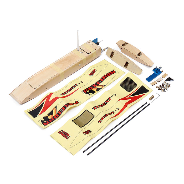 3652 Unassembled Electric RC Boat Kit without Motor ESC Servo Transmitter Battery