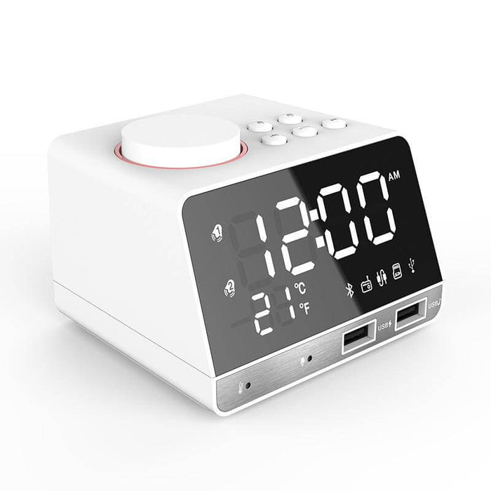 MOZUO K11 Bluetooth Speaker Alarm Clock USB Charging for Phone Portable FM Radio Subwoofer