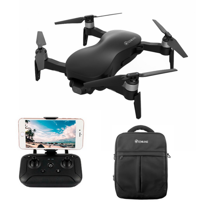 Eachine EX4 5G WIFI 3KM FPV GPS With 4K HD Camera 3-Axis Stable Gimbal 25 Mins Flight Time RC Drone Quadcopter RTF Black 3KM Two Battery Version