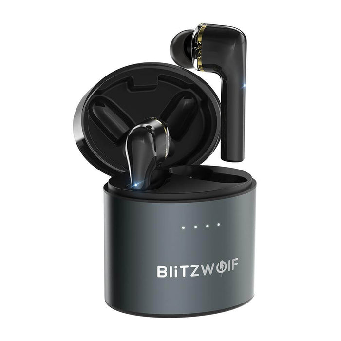 BlitzWolf® BW-FYE8 TWS bluetooth 5.0 Earphone QCC3020 Graphene Dual Dynamic Driver Touch Control Hands-free Headphone (Black)