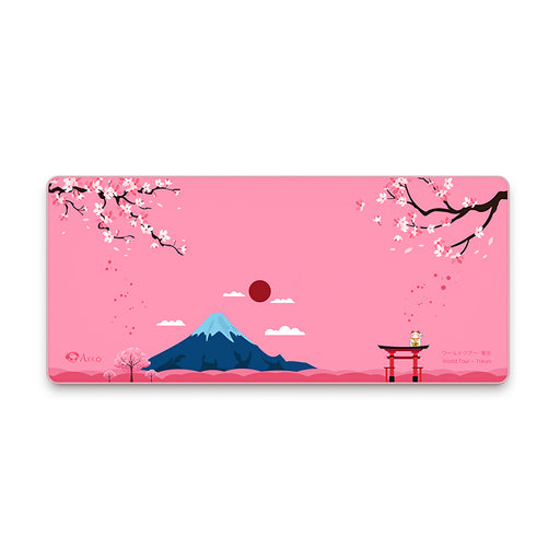 AKKO Mount Fuji Tokyo Keyboard & Mouse Pad Large Mouse Pad Keyboard Mat for Home Office