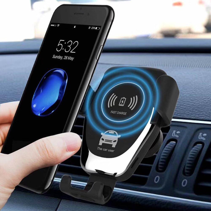 Bakeey 10W Fast charging Gravity Bracket Wireless Car Charger For iPhone X XS HUAWEI P30 Oneplus 7 MI9 S10 S10+
