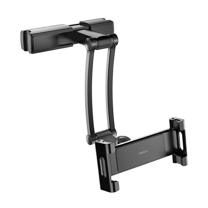 Rock Metal Clip Adjustable Arm 360 Degree Rotation Car Headrest Mount Holder for Mobile Phone Tablet