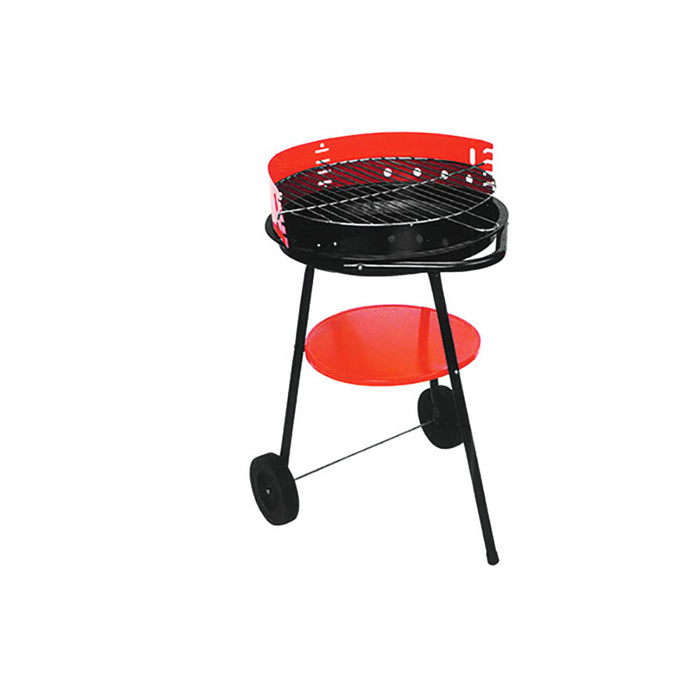 Iron Charcoal Meat Grill BBQ Barbeque with wheels Outdoor Camping Picnic Stove