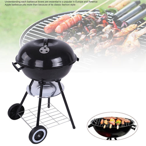 17'' Charcoal BBQ Grill Pit Outdoor Camping Cooker Bars Backyard Barbecue Tool