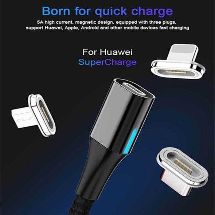 Magnetic Charging Cable for iPhone, Type C, Micro USB