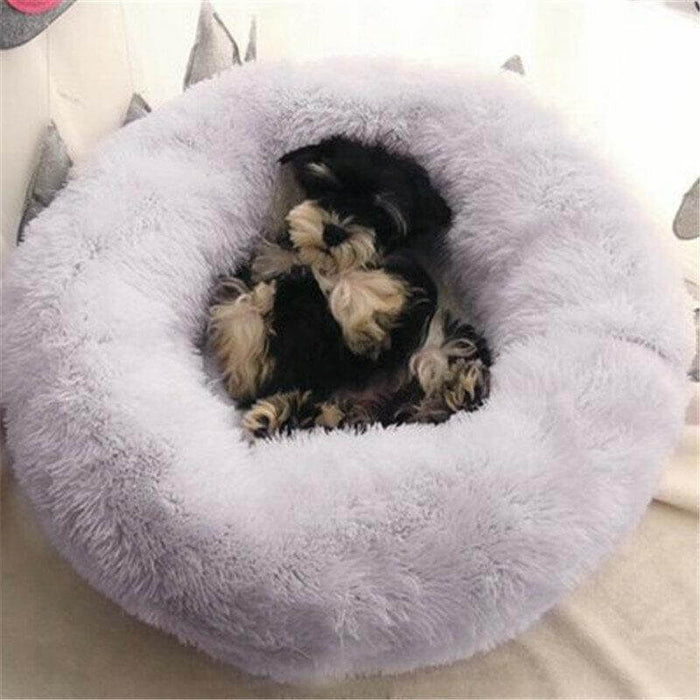 Pet Beds Dog Cat Calming Warm Soft Plush Cute Round Nest Comfortable Sleeping