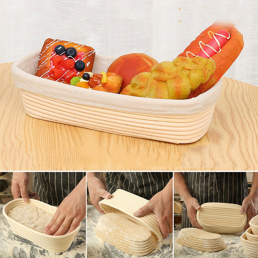 Banneton Bread Pan Bakery Proofing Bread Proofing Basket For Dough Bakery Tools Box Oval Fermentation Rattan Basket