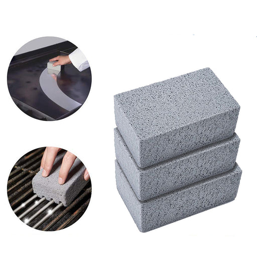 BBQ Cleaning Stone Non Slip Handheld Odorless Grill Ecological Clean Scrub Brick Block Barbecue Scraper Griddle Removing Stains Brush