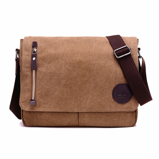 Retro Men Canvas Cross-body Shoulder Bags Laptop Messenger Vintage Travel School Bag