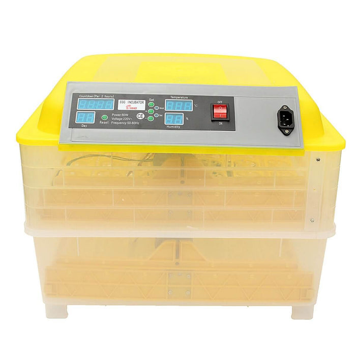 Fully Automatic Digital Egg Incubator 96 Eggs Poultry Duck Hatcher DT 110V 80W