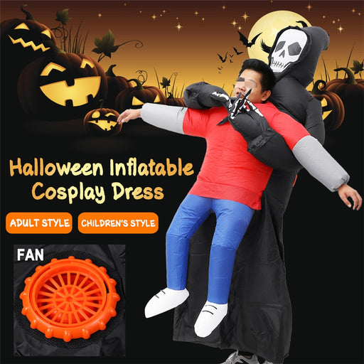 Halloween Party Dress Waterproof Inflatable Cosplay Party Costume With Air Pump for Kids & Adults