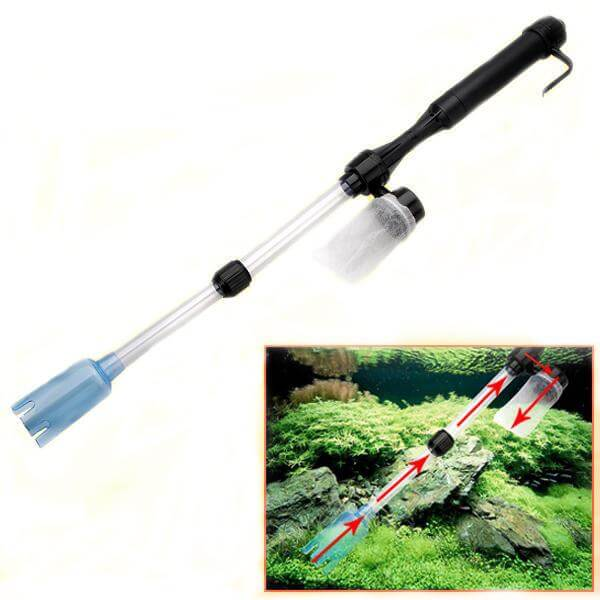 Aquarium Battery Syphon Auto Fish Tank Vacuum Gravel Water Filter