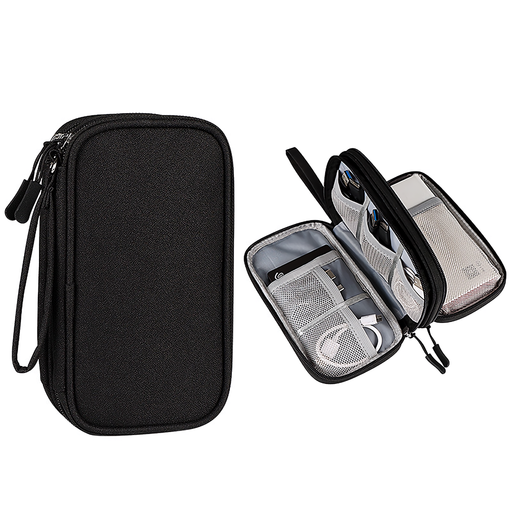 Double Layers Digital Storage Bag Electronics Accessory Bag Case Waterproof Cable Organizer Bag for Charger Hard Drive Power Bank
