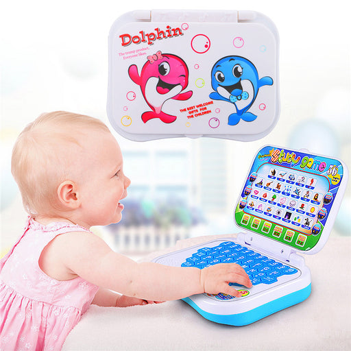 Foldable Baby Kid Toddler Educational Study Game Computer Toy Learning Machine