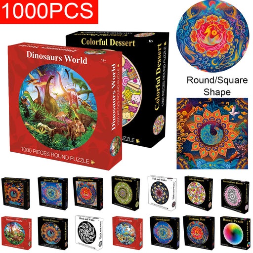 1000 Pieces Thousands Of Colors Rainbow Coil Series Children's Gift Jigsaw Puzzle Toy Educational Toys