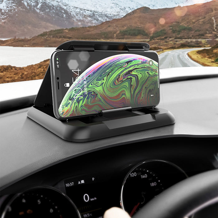 Foldable Multifunctional Car Dashboard Mount Mobile Phone GPS Holder Stand for 3-7 inch Devices