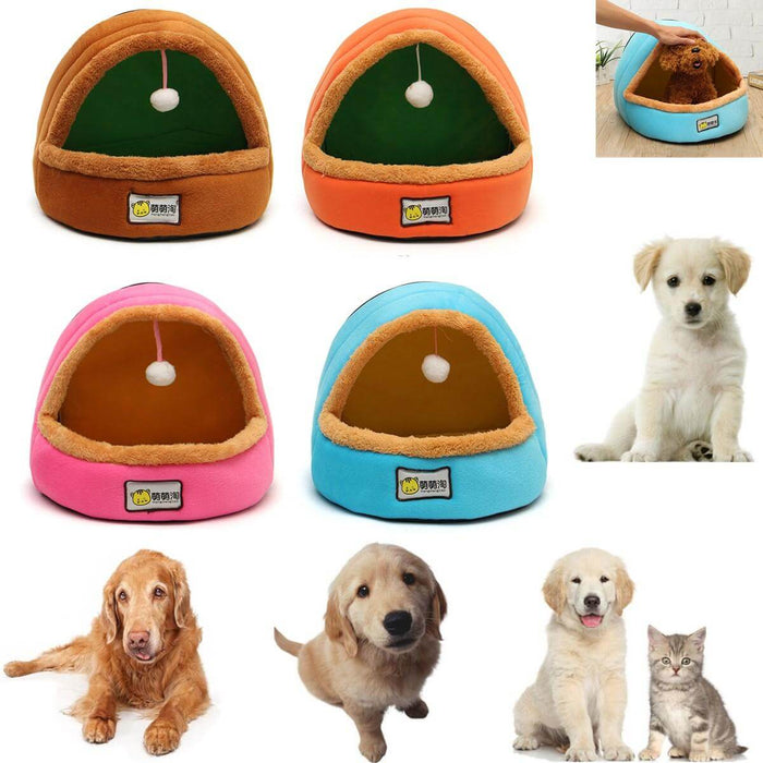 Foldable Kennel Dog Bed For Dogs Cats Animals Pet House Tent All Seasons Washable Cushion