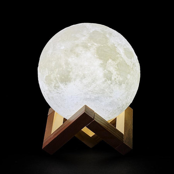3D Printed LED 2 Colored Moon Lamp