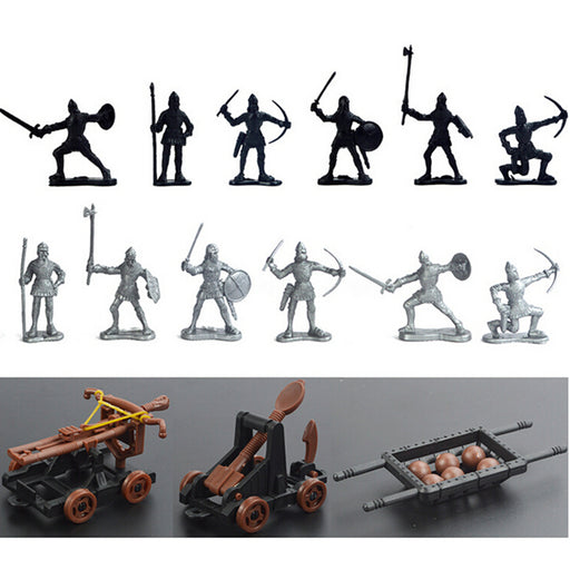 14 pcs Knights Medieval Toy Soldiers Action Figure Role Play Playset