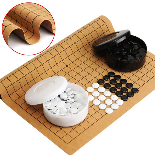 361PCS Weiqi Professional Go Game Suede Leather Sheet Chinese Play Fun