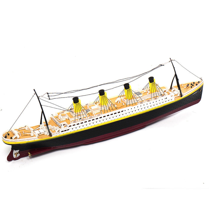 NQD 757 1/325 2.4G 80cm Simulation Titanic RC Boat Electric Ship Model with Light RTR Toys
