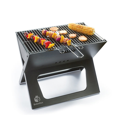 BOLEEFUN X Shape Multi-Function Detachable Grill Outdoor Camping Smoked Charcoal for Home BBQ Tool