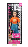 Barbie Fashionistas Doll - Orange Shirt & Shimmery Blue Skirt