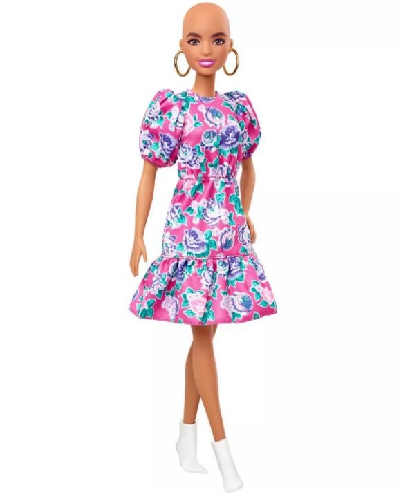 Barbie Fashionistas Doll - Pink Floral Dress