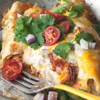 5 Carb Enchilada Ranch Casserole from Skinny Dip Noodles