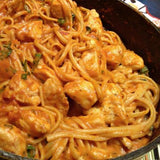 Creamy Tomato Crockpot Chicken With Noodles