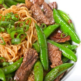 Skinny Steak Noodles and Snow Peas