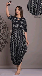 Elegant Motif Printed Cotton Daily Wear Kurthi
