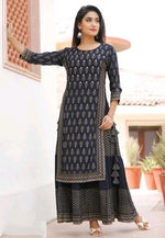 Black Pretty Double Layered Kurthi