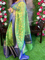 Green Attractive Zari weaving saree with Rich weaved blouse