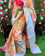Elegant kora tissue weave Party Saree