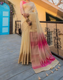 Copy of Elegant Chanderi Cotton Party Saree With Ikkat Print