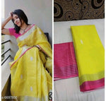 Attractive Bollywood Linen Digital printed Saree # C005